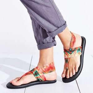 Sanuk Tie Dye Yoga Sling Sandals